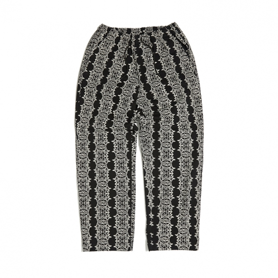 SMILE PATTERN PANTS (BLACK0