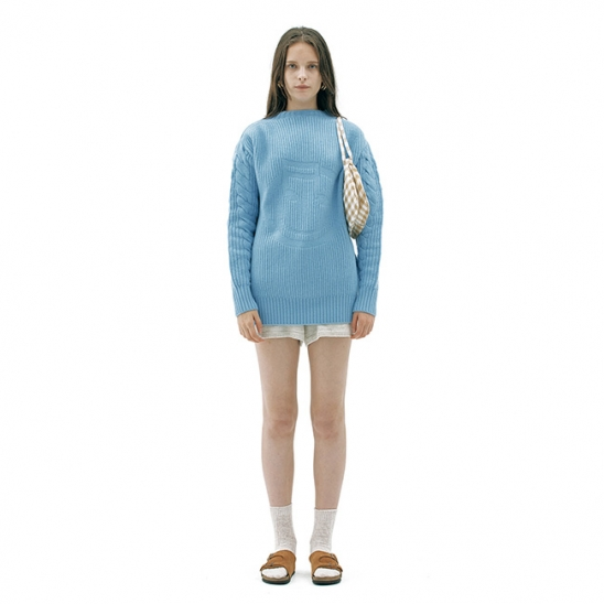 SMILE CABLE WOOL KNIT TOP_L/BLUE (EETZ3NTR06W)