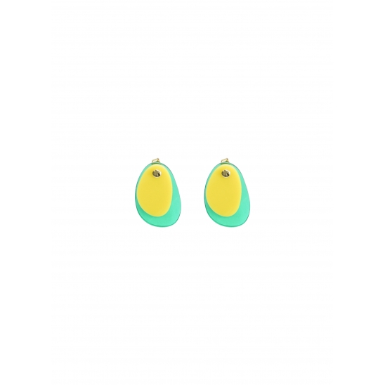 COLOR LAYERED EARRING YELLOW