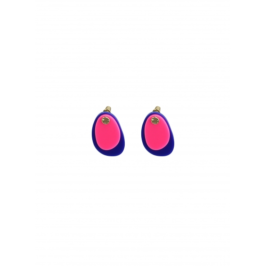 COLOR LAYERED EARRING PINK