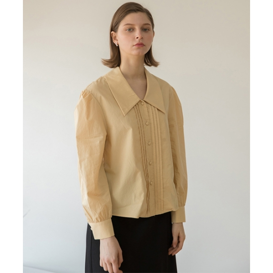 [클렛] PIN TUCK VOLUME SHIRT YELLOW