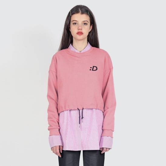 PINK CROPPED SWEATSHIRTS