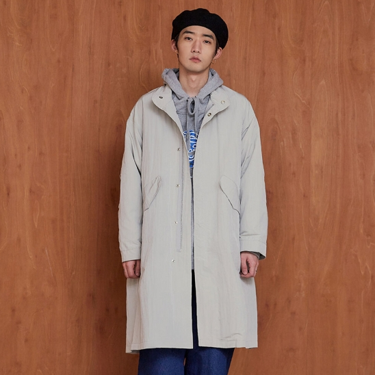 WATER-RESISTANT FISHTAIL PARKA light grey