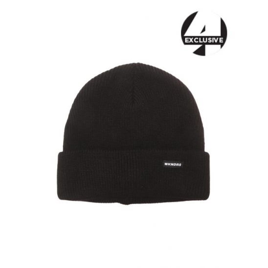 [A.T.C EXCLUSIVE]  HOT DOG EMBROIDERY BASIC BEANIE (BLACK)