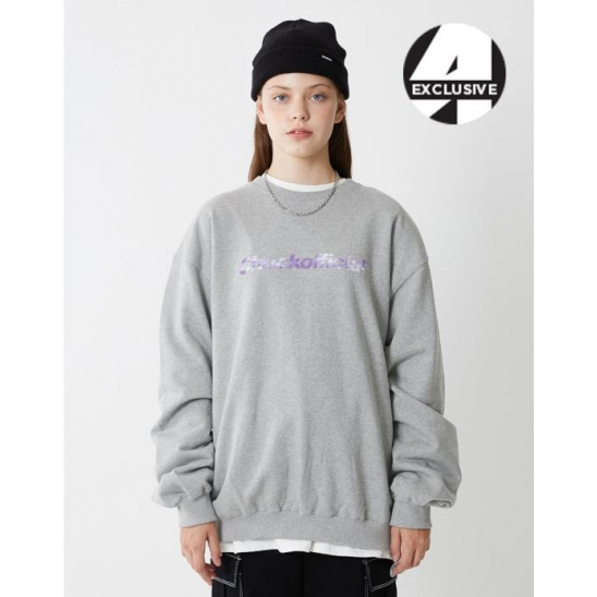 [A.T.C EXCLUSIVE]  CHUCK OFFICIAL LOGO SWEATSHIRT GRAY