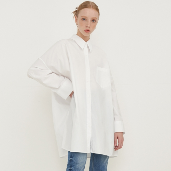 OVERFIT ONEPIECE SHIRT_ivory