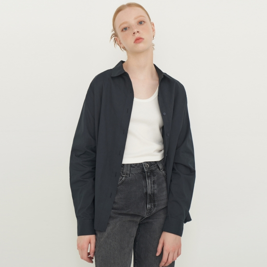 SOLID COLOR SHIRT_NAVY