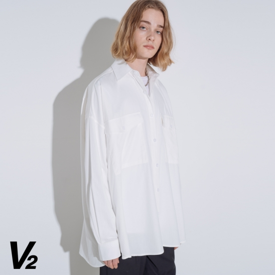 OVERFIT RAY POCKET SHIRT_IVORY