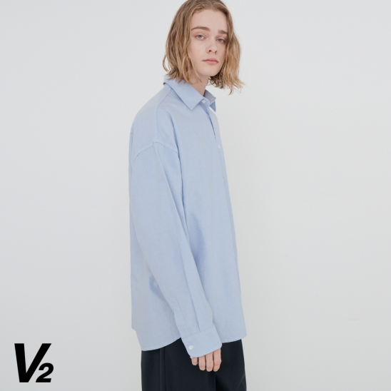 OVERFIT WASHED OXFORD SHIRT_SKY BLUE
