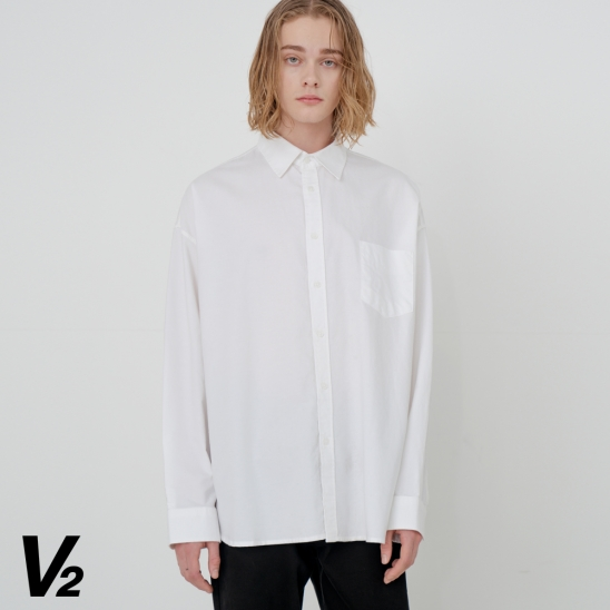 OVERFIT WASHED OXFORD SHIRT_WHITE