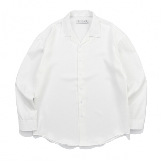 CB 157 SOLID OPEN SHIRT (WHITE)