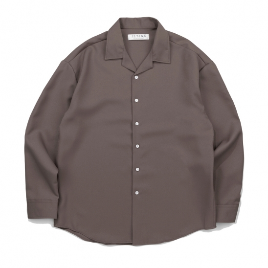 CB 157 SOLID OPEN SHIRT (BROWN)