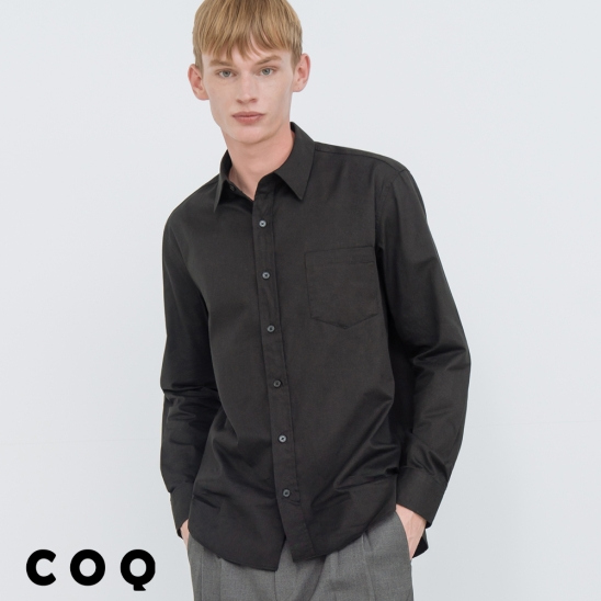 STANDARD SOLID SHIRT_BLACK