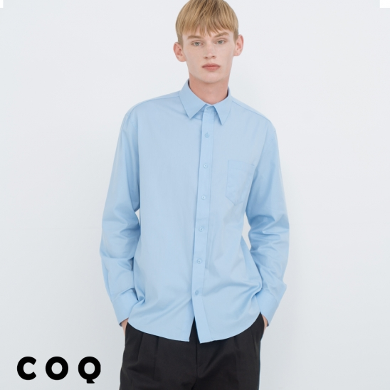 STANDARD SOLID SHIRT_SKY BLUE