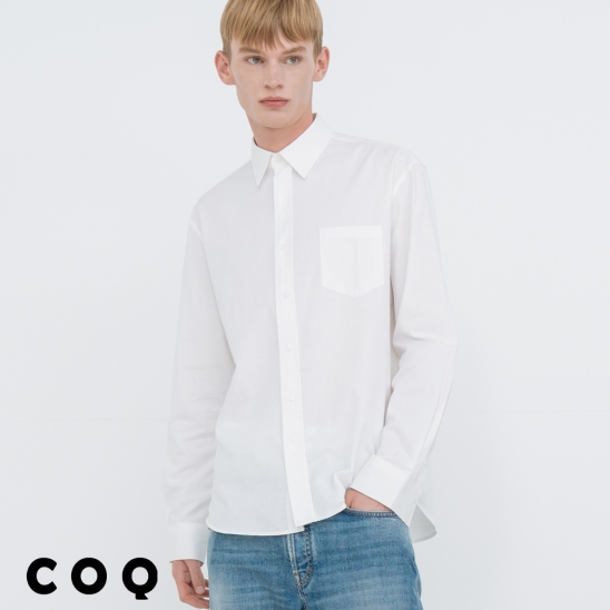 STANDARD SOLID SHIRT_WHITE