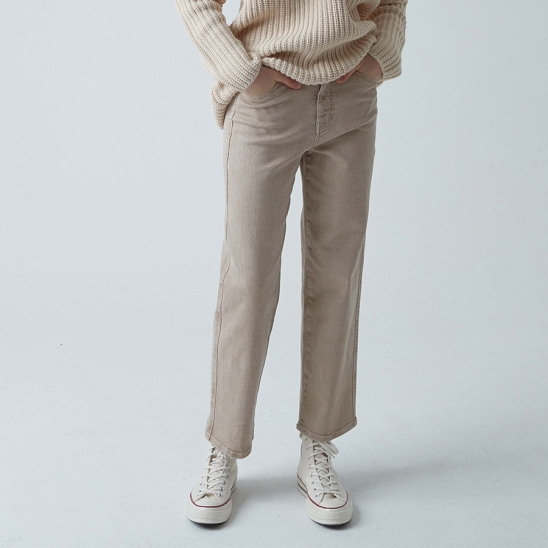 Tapered Dyeing Pants (Beige)