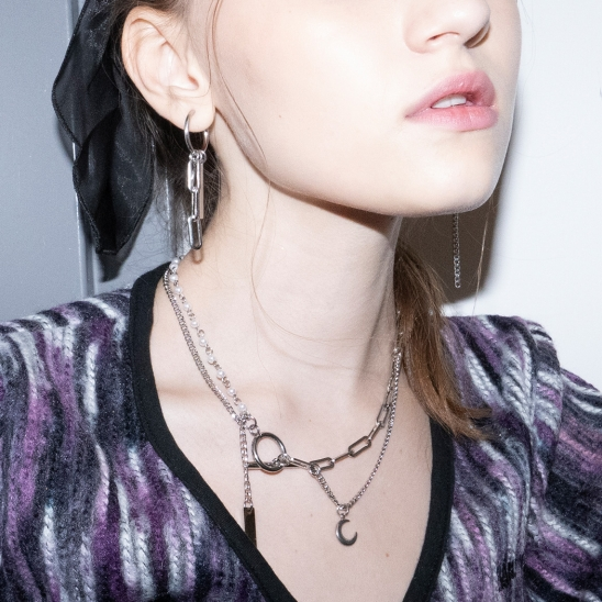 Luna Mixed Chain Necklace [surgical]