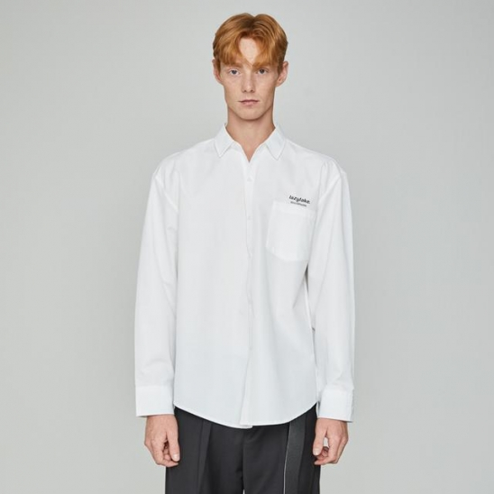 Lazy Iconic Pocket Shirts White