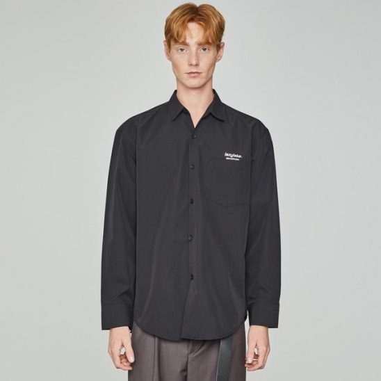 Lazy Iconic Pocket Shirts Black