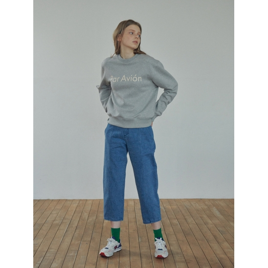 ANKLE-LENGTH WASHED CARROT JEANS (JTJS303-50)