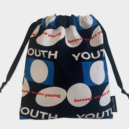 Youth black string pouch m