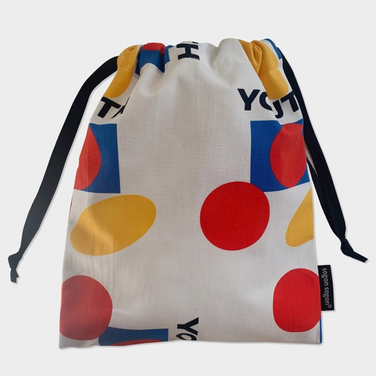 Youth white string pouch m