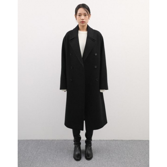 [UNISEX] UNI DOUBLE COAT BLACK