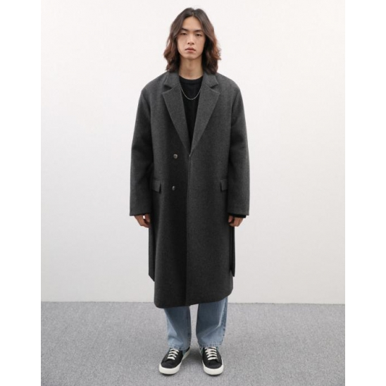 [MEN] UNI ROBE COAT GRAY