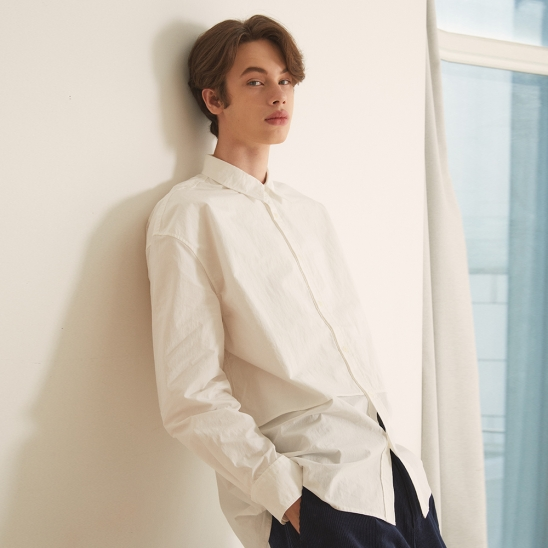 FW20 DAILY FIT FLAP SHIRT(LONG)_WHITE