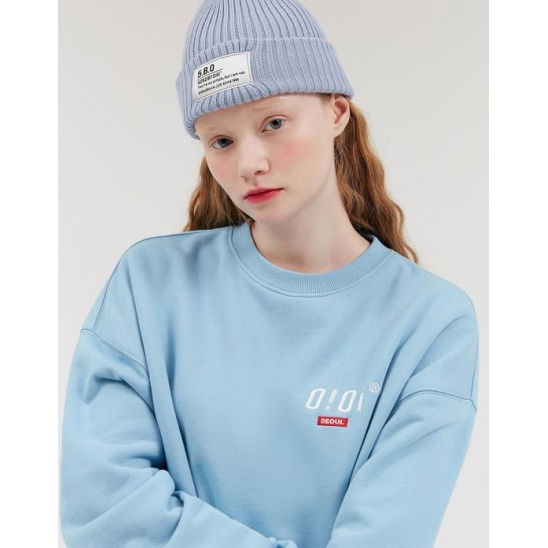SIDE LOGO JUMPER (VER 기모)_SKY BLUE