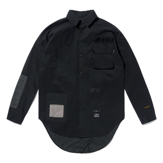 DV TECH OVERSIZED SHIRTS BLACK
