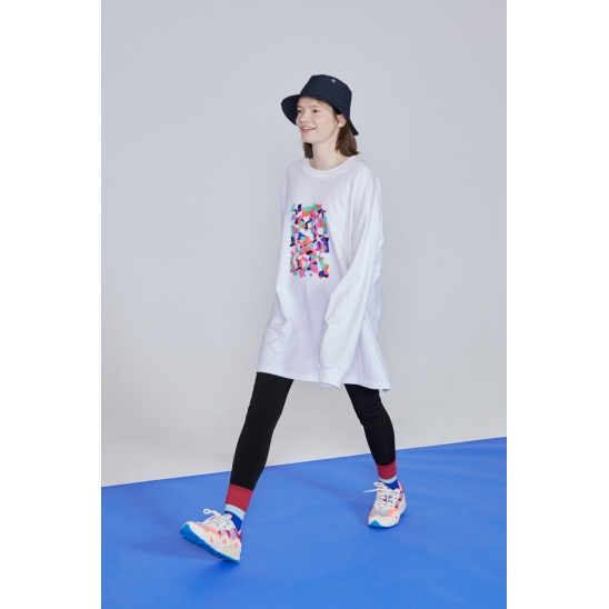 BAR SWITCH ESSENTIAL LONG SLEEVED T-SHIRT _ WHITE