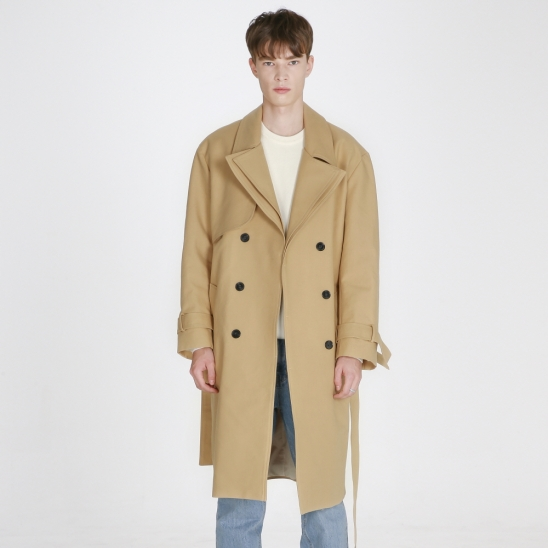 Double layered trench Coat_ Beige