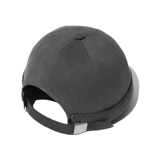 SP Pigment Washing Watch Cap-Charcoal