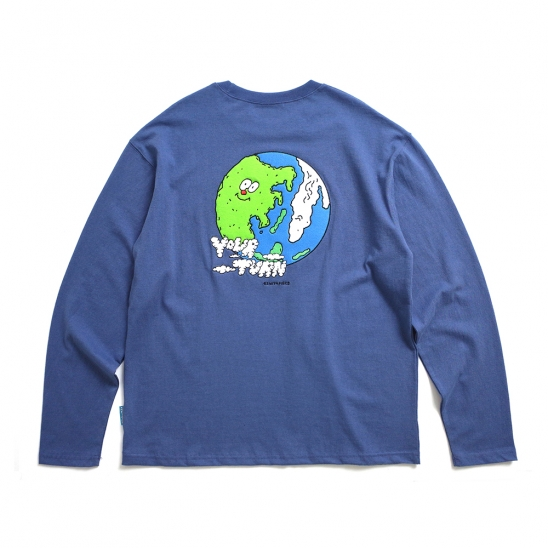 [EZwithPIECE] EARTH LS (NAVY)