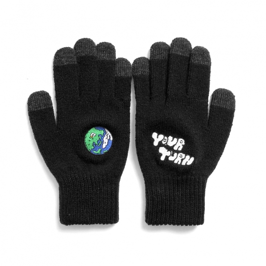 [EZwithPIECE] EARTH SMART GLOVES (BLACK)
