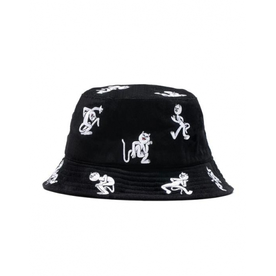 Dance Party Embroidered Bucket - Black