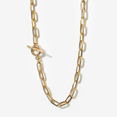 square chain necklace N002