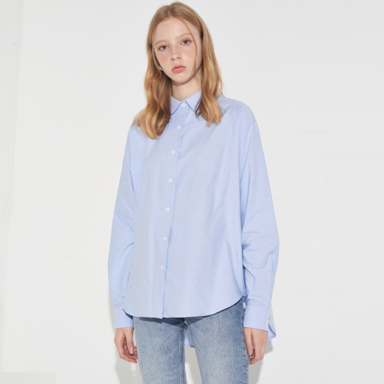 BASIC OXFORD SHIRT_SKY BLUE