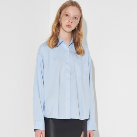 MINIMAL OXFORD SHIRT_SKY BLUE