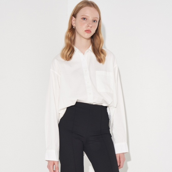 MINIMAL OXFORD SHIRT_IVORY