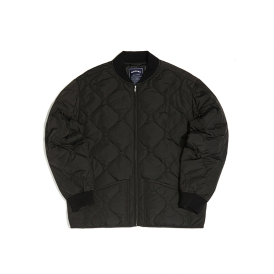 QUILTIED JACKET (BLACK)