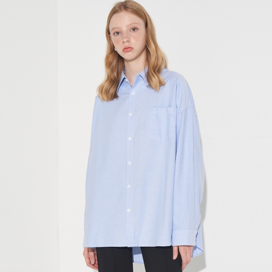 OVERFIT STANDARD OXFORD SHIRT_SKY BLUE