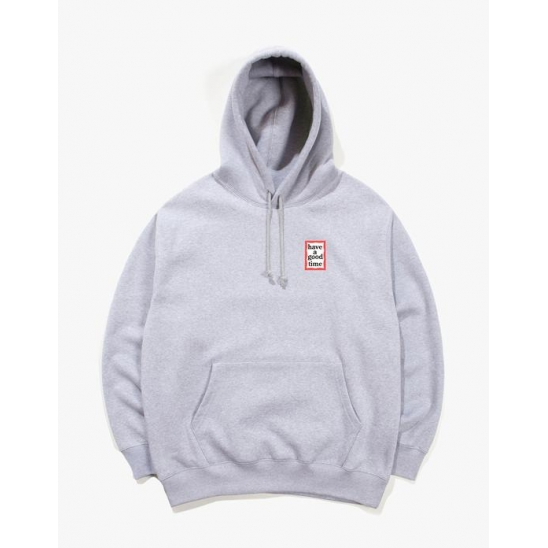 MINI FRAME PULLOVER HOODIE - HEATHER GRAY