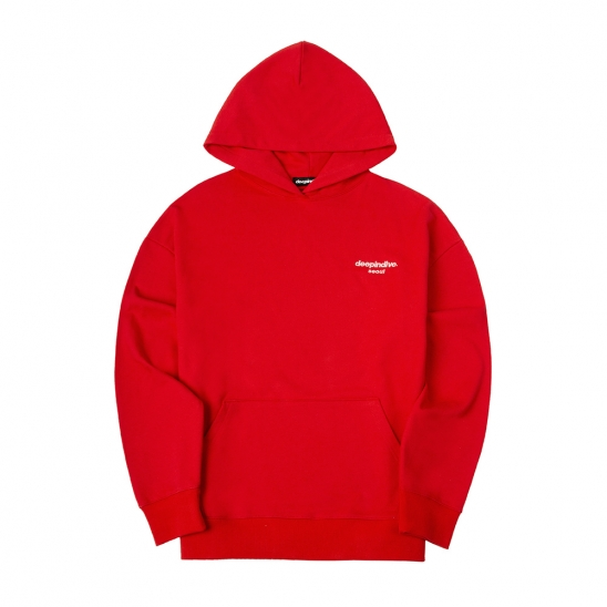 SMALL SEOUL LOGO HOODIE [RED]