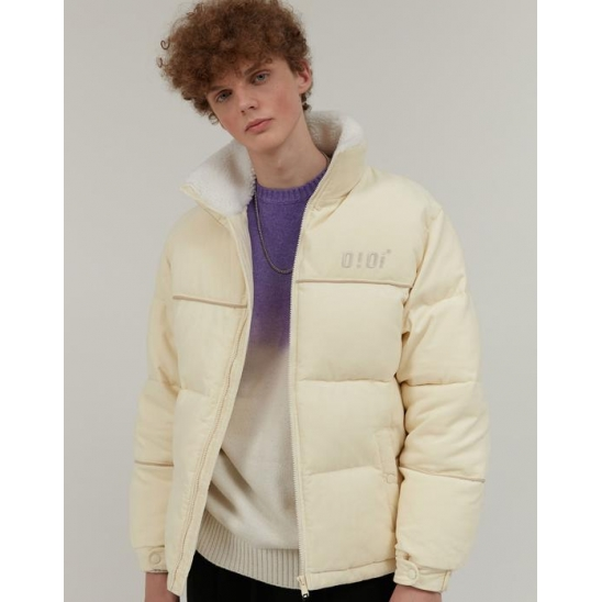 PIPING POINT CORDUROY JACKET_IVORY
