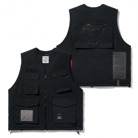 DV TECH PADDED VEST BLACK