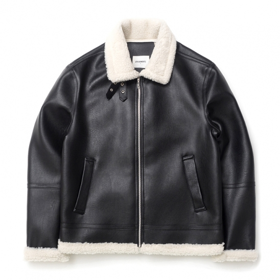 ND B-3 Mouton Jacket (Black/Beige)