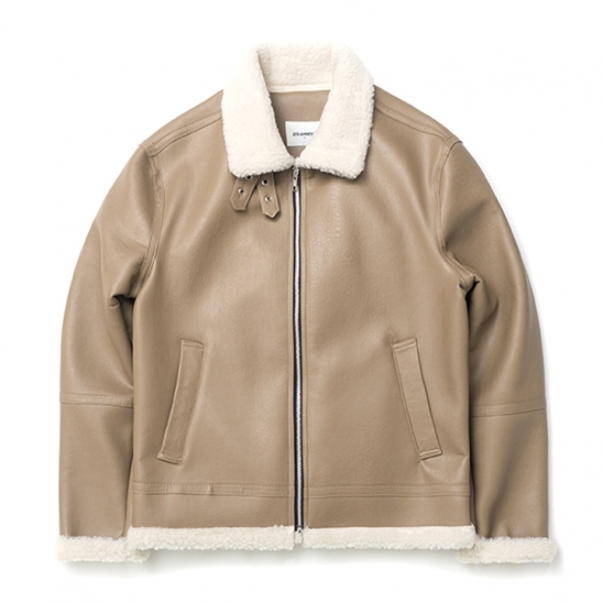 ND B-3 Mouton Jacket (Beige)