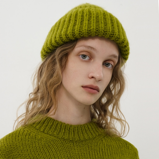 R HAIR KNIT BEANIE [2colors]